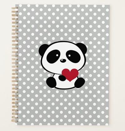 Panda Bear Planner - Panda Gifts