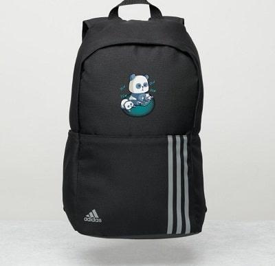 Panda Bear Video Gaming Adidas Backpack