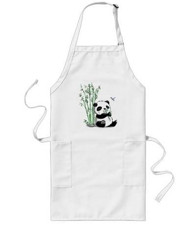 Panda Eating Bamboo Long Apron