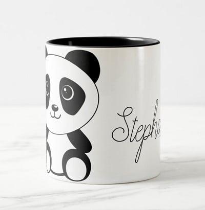 Personalized Cute Panda Bear Coffee Mug