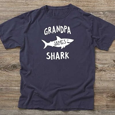 Personalized Grandpa Shark T-Shirt