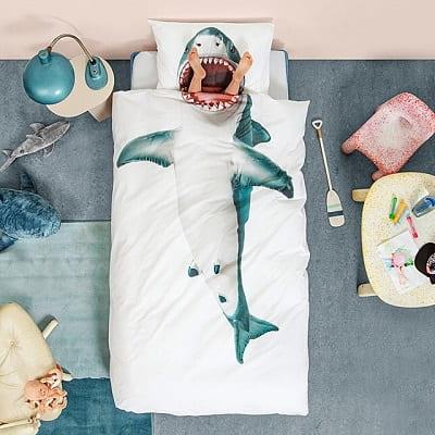 Shark Duvet and Pillowcase Set