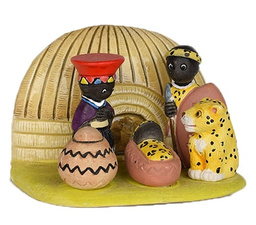 Small African Nativity Scene - African American Nativity Sets