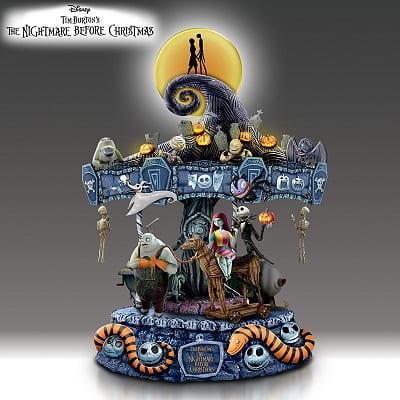 The Nightmare Before Christmas Illuminated Musical Carousel
