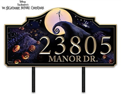 The Nightmare Before Christmas Personalized Outdoor Address Sign
