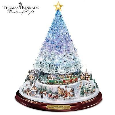 Thomas Kinkade Crystal Christmas Tabletop Tree