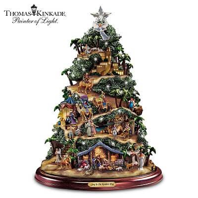 Thomas Kinkade Glory to the Newborn King Nativity Tree