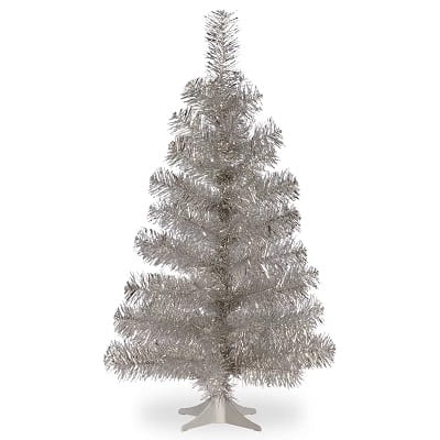 3ft. Silver Pine Artificial Christmas Tree