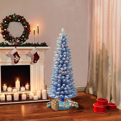 4ft. Blue Frosted Christmas Tree with 100 Lights
