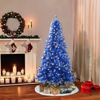 6ft. Blue Frosted Christmas Tree with 300 Lights