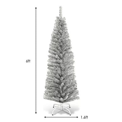 6ft. Silver Artificial Christmas Tree