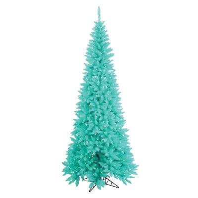 9ft. Sky Blue Fir Artificial Christmas Tree with 700 Aqua Lights
