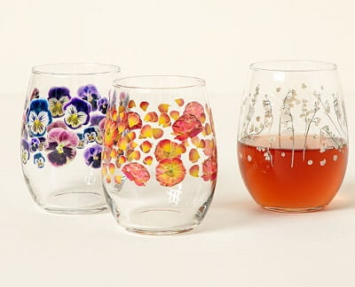Birth Month Flower Glass