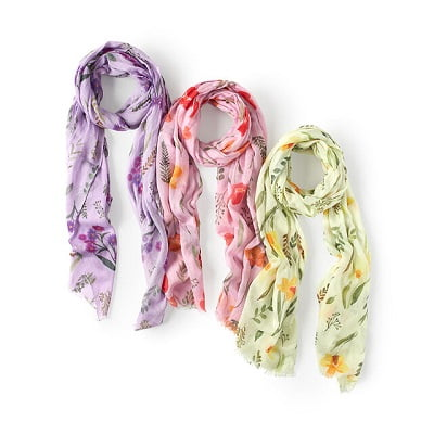 Birth Month Flower Scarf - Gifts for Women In Their 40s