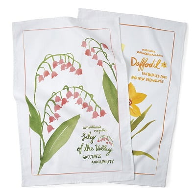 Birth Month Flower Tea Towels - Gifts for Women In Their 30s