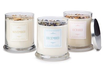 Birth Month Gemstone & Flower Candle - Gifts for Women In Their 30s