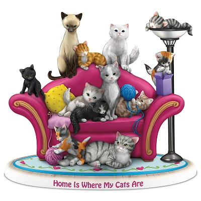 Blake Jensen Home Is Where My Cats Are Figurine