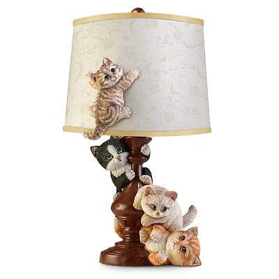 Cat-Tastrophe Sculpted Table Lamp