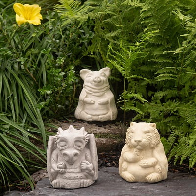 Chinese Zodiac Zen Garden Sculptures