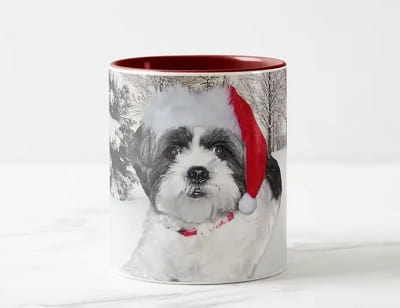 Christmas Shih Tzu Coffee Mug