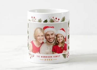 Create Your Own Christmas Family Photo Coffee Mug