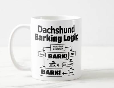 Dachshund Barking Logic Coffee Mug
