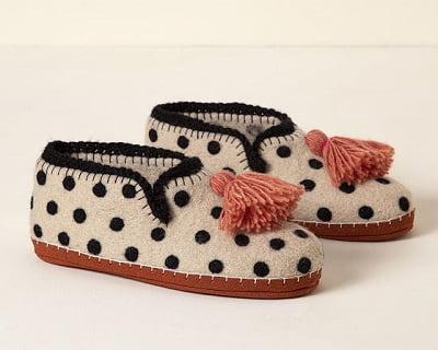 Handmade Polka Dottie Slippers