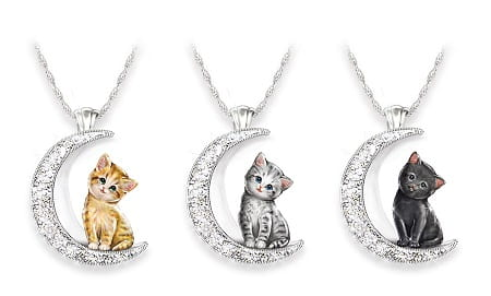 I Love My Cat To The Moon And Back Pendant Necklace