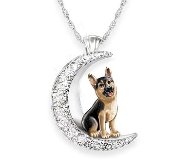 I Love My German Shepherd To The Moon And Back Pendant Necklace