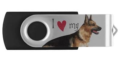 I Love my German Shepherd USB Flash Drive