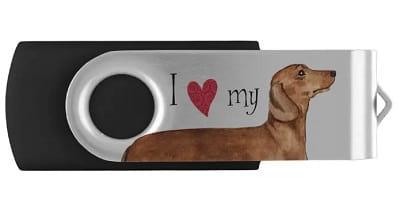 I love my Dachshund USB Flash Drive
