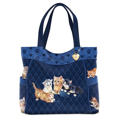 Jürgen Scholz Kitty-Kat Cute Quilted Tote Bag
