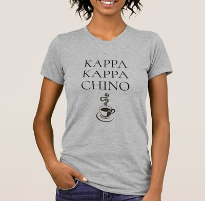 Kappa Kappa Chino Funny Coffee Lover T-Shirt