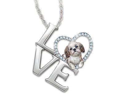 Loving Shih Tzu Pendant Necklace