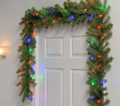 National Tree Company 9' Fir Garland, Battery Operated Lights