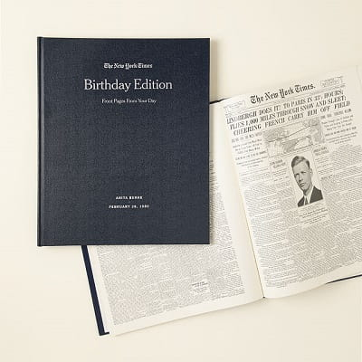 New York Times Custom Birthday Book - Gifts for Women In Their 30s