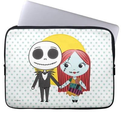 Nightmare Before Christmas Jack & Sally Emoji Laptop Sleeve