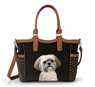 Personalized Designer-Style Dog Tote Bag