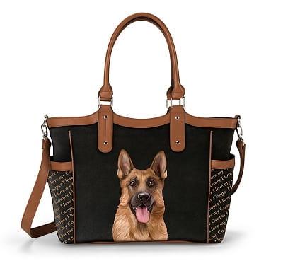 Personalized Designer-Style German Shepherd Tote Bag
