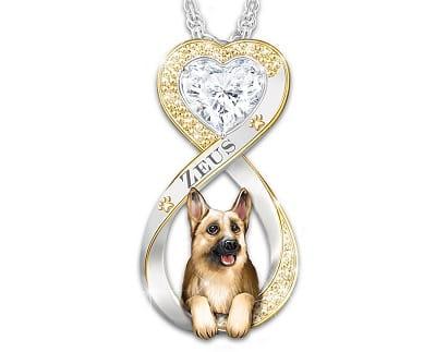 Personalized German Shepherd Pendant Necklace