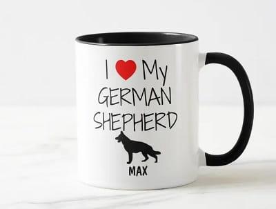 Personalized I Love My German Shepherd Mug