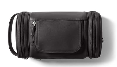 Personalized Leather Multi Pocket Toiletry Bag