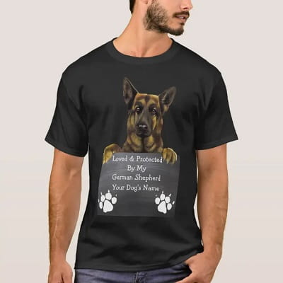 Personalized Loved & Protected by my German Shepherd T Shirt