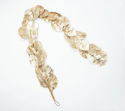 Shimmering Magnolia Leaf Garland