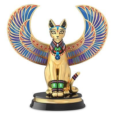 Sparkling Egyptian Feline of the Nile Sculpture