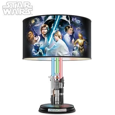 Star Wars Original Trilogy Lamp With Illuminated Lightsabers