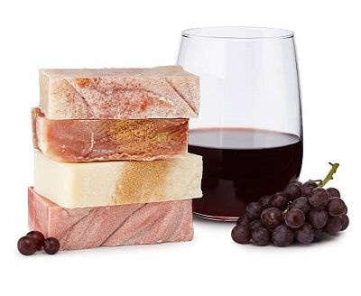 Wine Soaps - Set of 4 - Gifts for a Woman In Her 40s Who Loves Wine