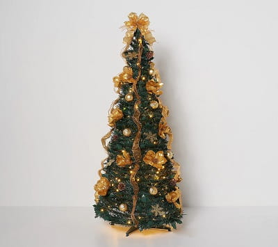 5ft. Pre-Lit Fully Decorated Pop Up Tree