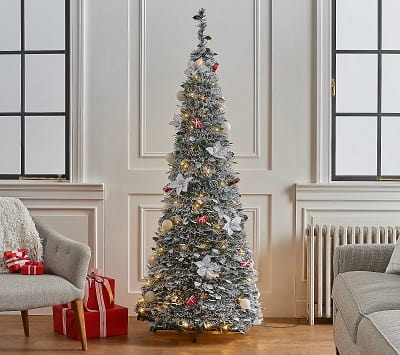 6ft. Pre-Lit Fully Decorated Pop Up Christmas Tree
