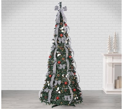 7.5ft. Pop Up Pre-Lit Fully Decorated Christmas Tree